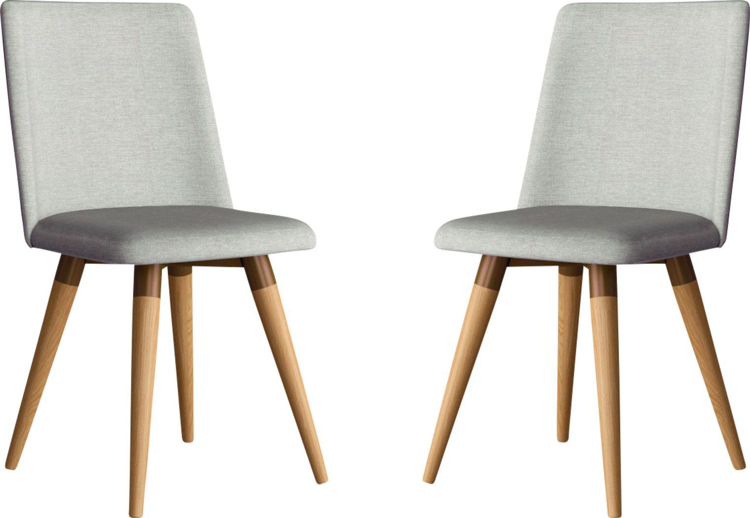 Abita Circle Gray Swivel Side Chair, Set of 2