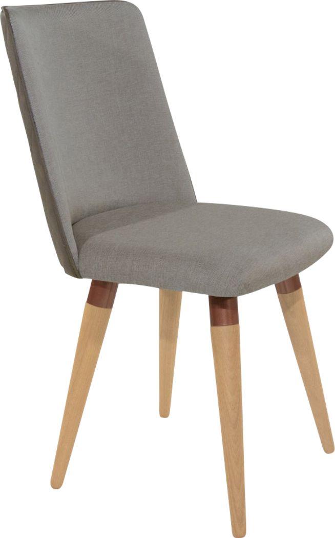 Abita Circle Gray Swivel Side Chair