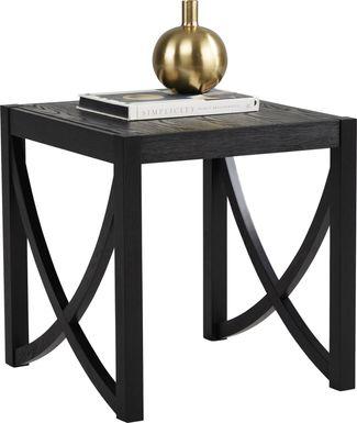 Abner Black End Table