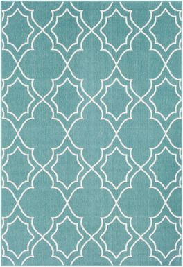 Abrial Aqua 8' x 11' Indoor/Outdoor Rug