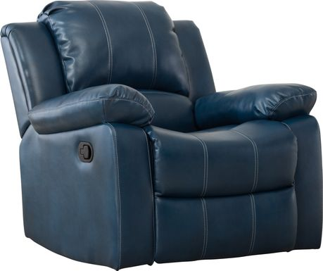 Absecon Blue Glider Recliner