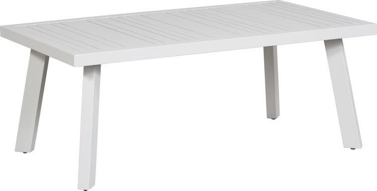 Acadia White Outdoor Cocktail Table