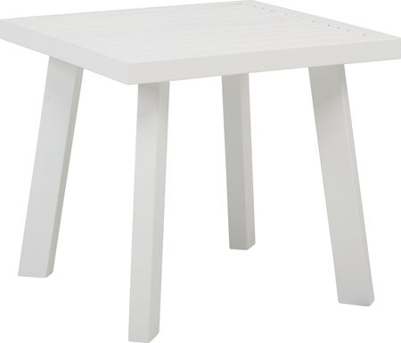 Acadia White Outdoor End Table