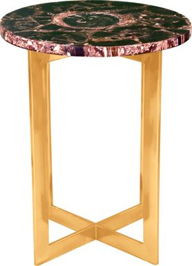 Acari Black Accent Table
