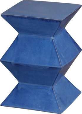 Ackley Outdoor Blue Stool