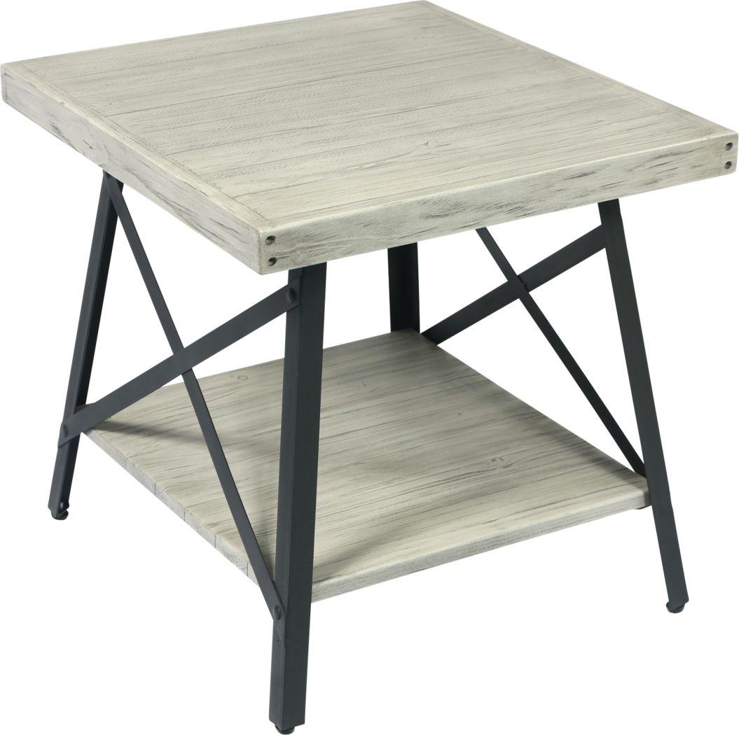 Acoma Light Gray End Table