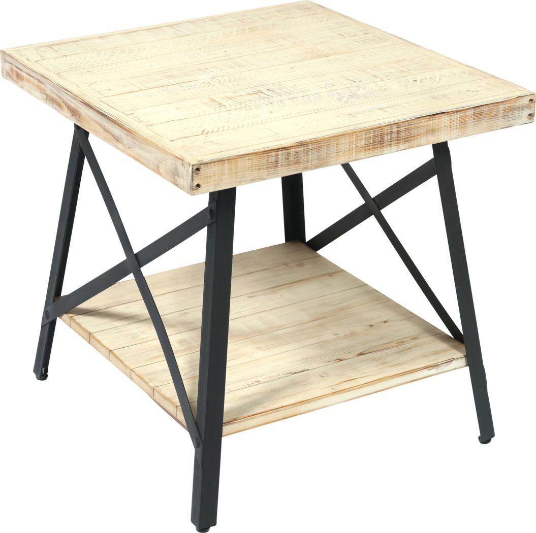 Acoma White End Table