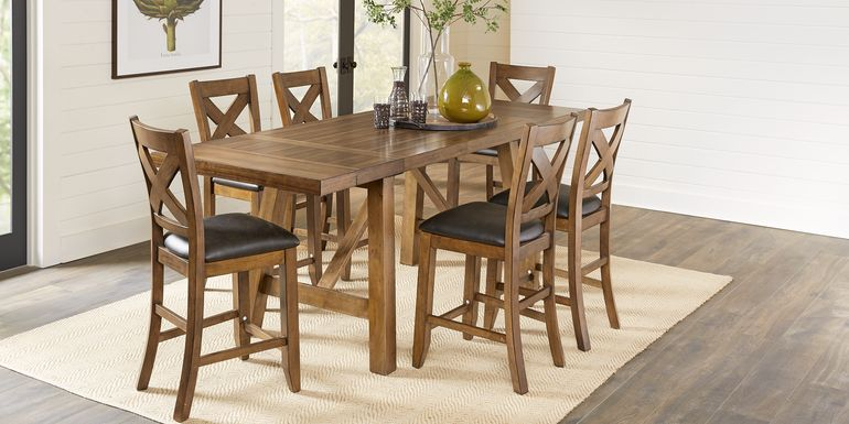 Acorn Cottage Brown 5 Pc Counter Height Dining Room