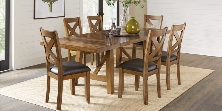 Acorn Cottage Brown 5 Pc Dining Room with X-Back Chairs