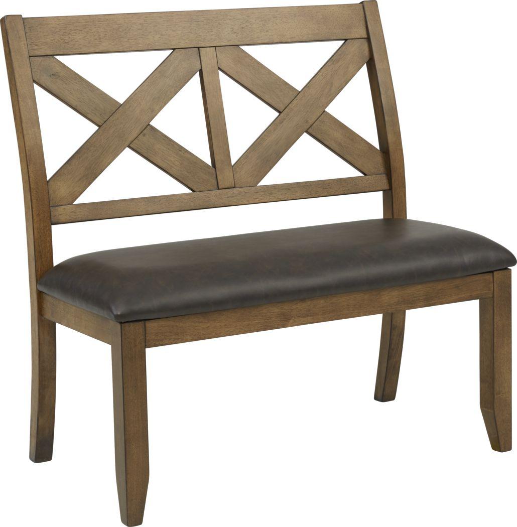 Acorn Cottage Brown Bench