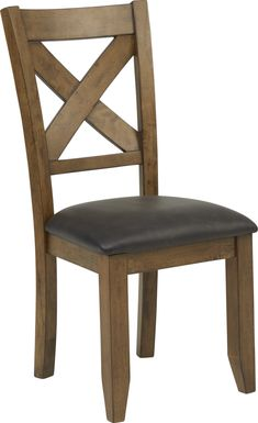 Acorn Cottage Brown X-Back Side Chair