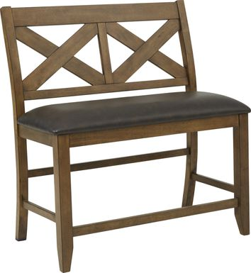 Acorn Cottage Brown Counter Height Bench