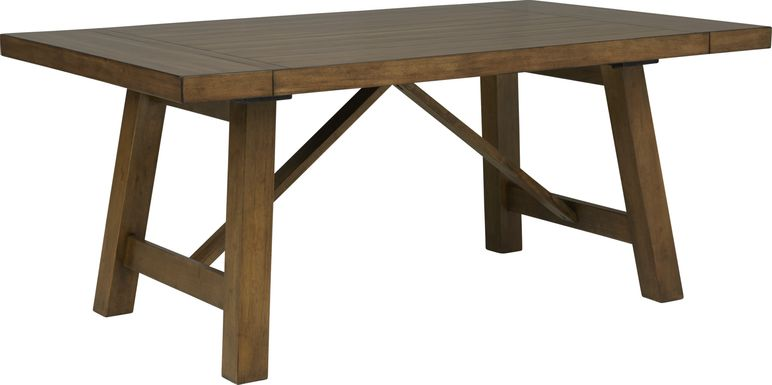 Acorn Cottage Brown Rectangle Trestle Dining Table