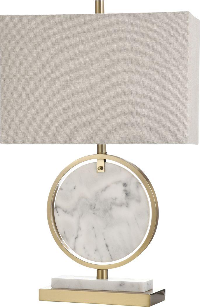Adair Circle Gold Lamp