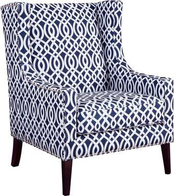 Addington Blue Print Accent Chair