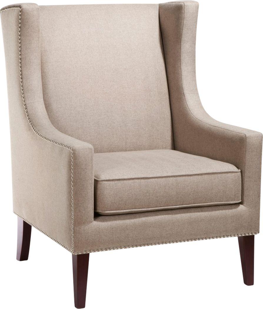 Addington Taupe Herringbone Accent Chair