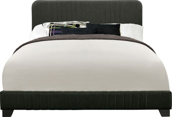 Addison Avenue Gray King Upholstered Bed
