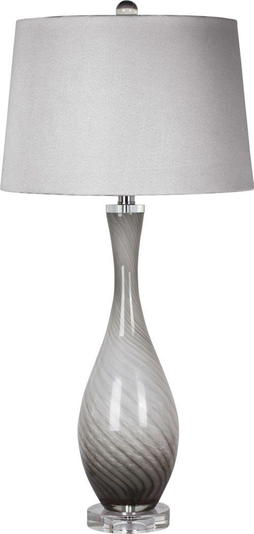 Addison Court Gray Lamp