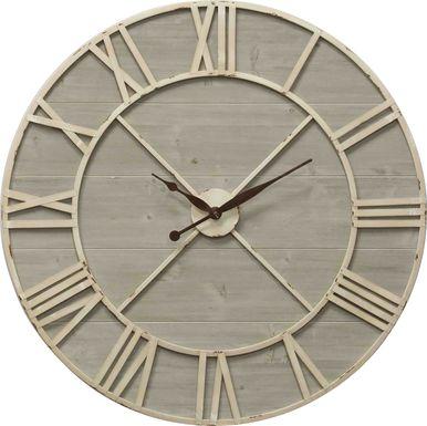 Addleston Ivory Wall Clock