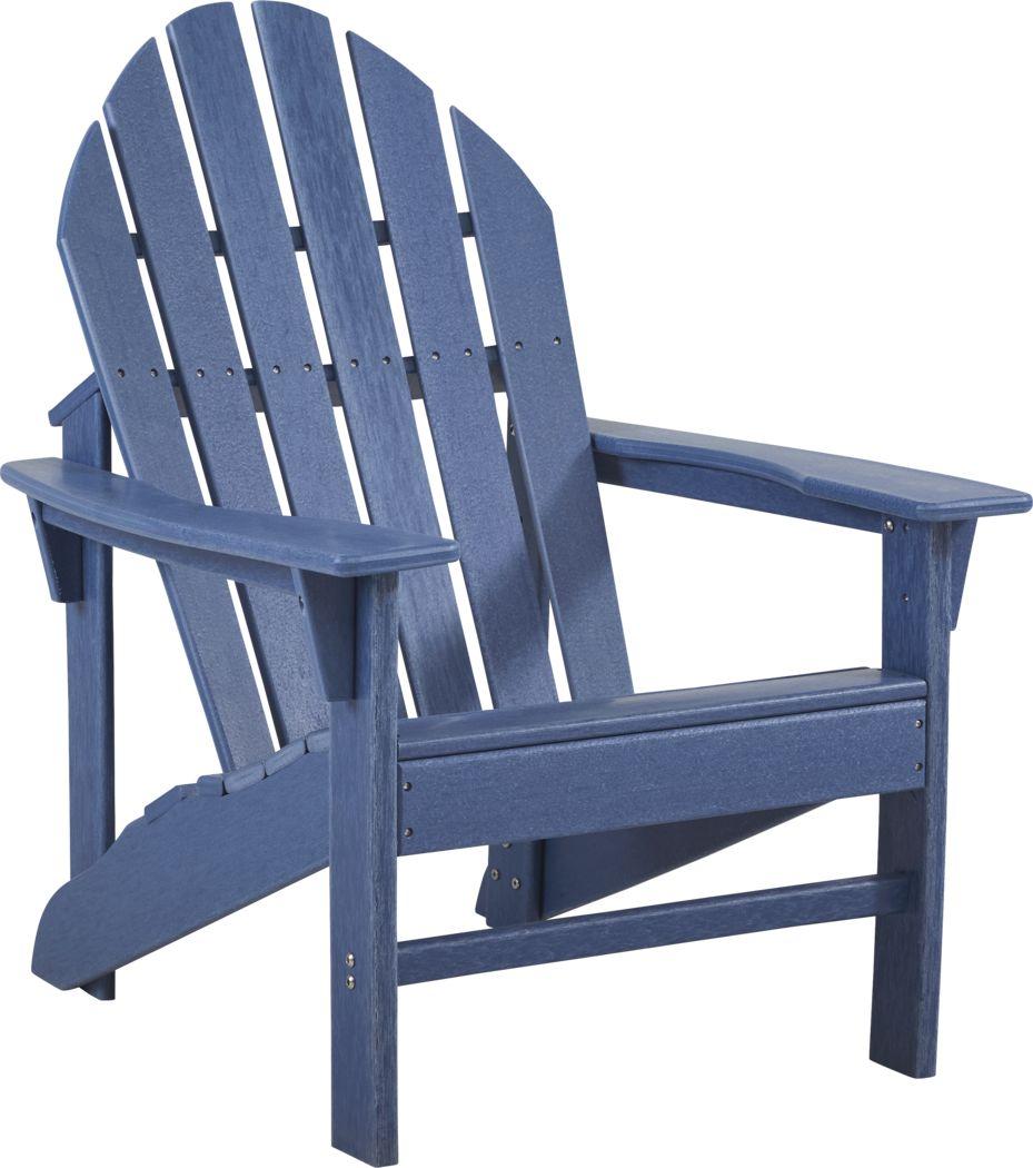 Addy Navy Outdoor Adirondack Chair