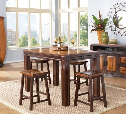 Adelson Chocolate 7 Pc Counter Height Dining Room