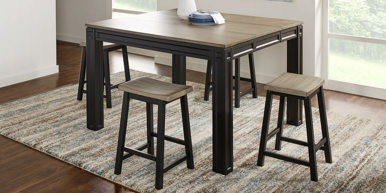Adelson Black 5 Pc Counter Height Dining Room