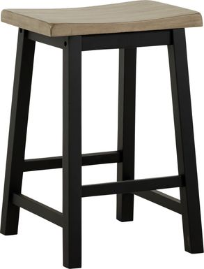 Adelson Black Counter Height Stool
