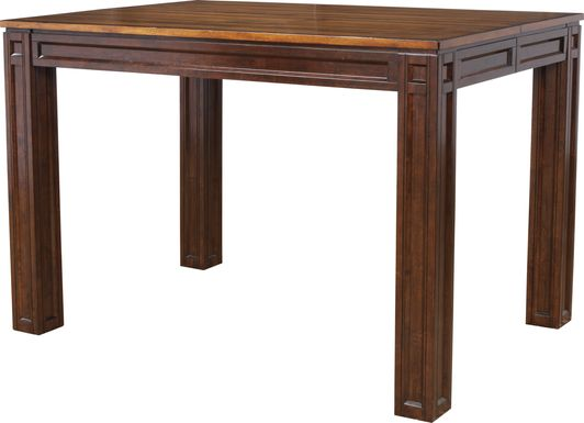 Adelson Chocolate Square Counter Height Dining Table