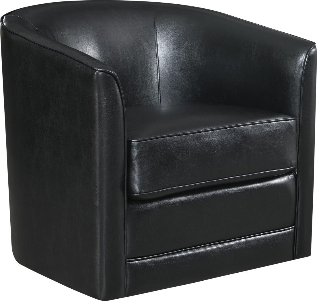 Adelta Black Accent Swivel Chair