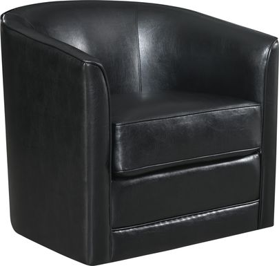 Adelta Black Swivel Accent Chair