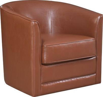 Adelta Brown Accent Swivel Chair