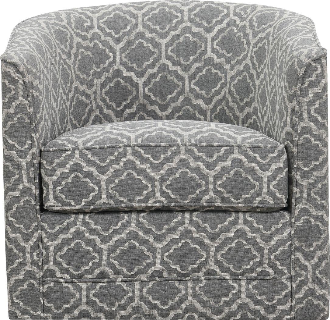 Adelta Gray Accent Swivel Chair