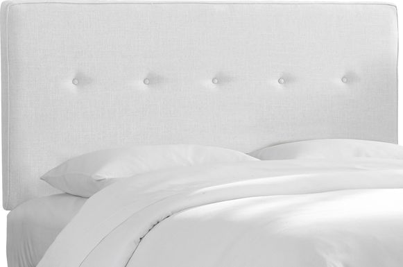 Adette White King Upholstered Headboard