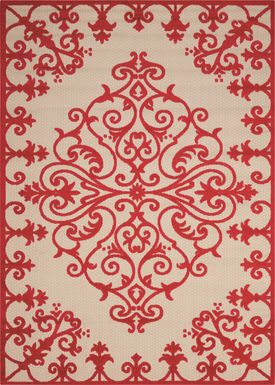 Adilen Red 8' x 11' Indoor/Outdoor Rug