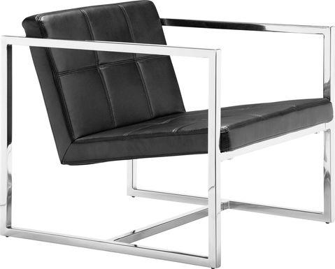 Adiron Black Accent Chair