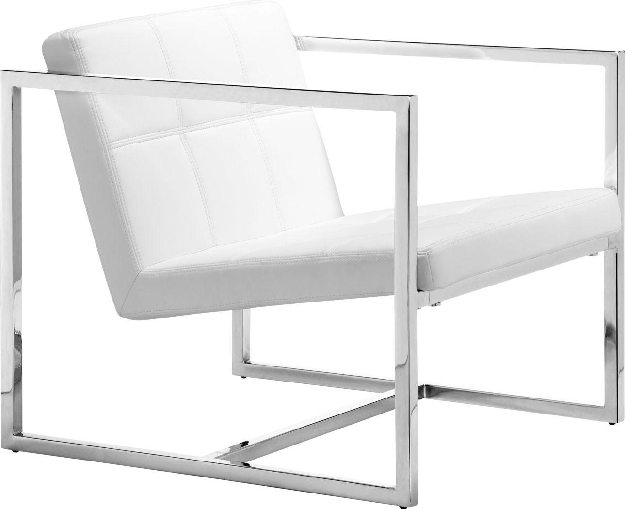 Adiron White Accent Chair