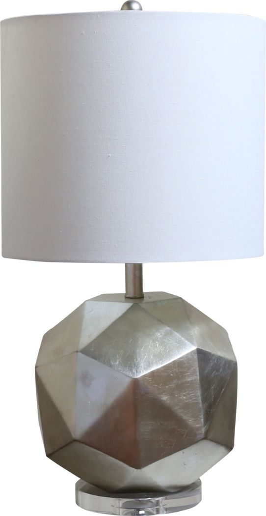 Adonis Bay Silver Lamp