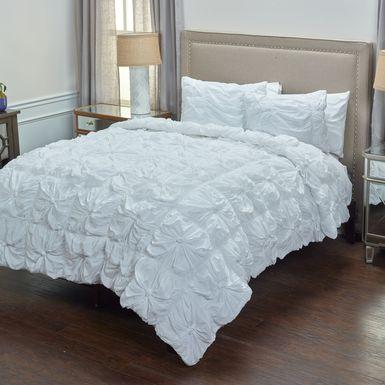 Adrina White 3 Pc King Comforter Set