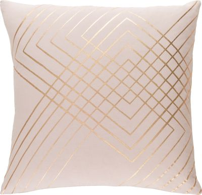 Aelina Beige Accent Pillow