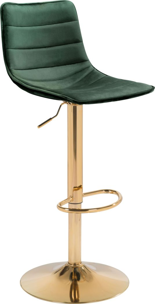 Agrona Green Adjustable Barstool