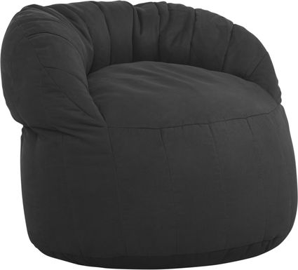 Kids Aidyn Black Bean Bag Chair