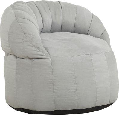 Kids Aidyn Light Gray Bean Bag Chair