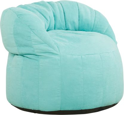 Kids Aidyn Teal Bean Bag Chair
