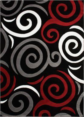 Ailmar Red 5' x 7'3 Rug