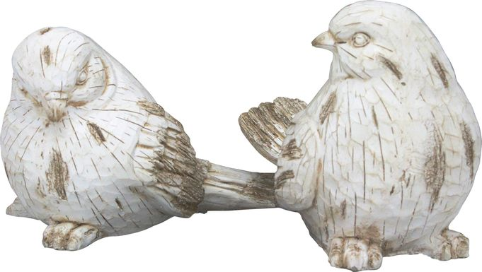 Aimory White Sculpture Set of 2