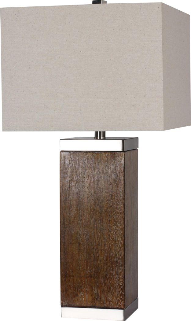 Alameda Cove Walnut Lamp