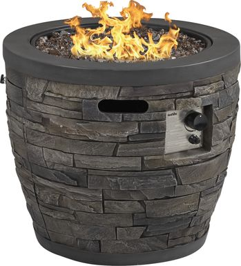 Alamo Heights Dark Gray Outdoor Fire Pit