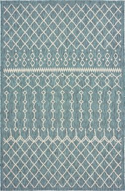 Alayna Gray 7' x 5' Indoor/Outdoor Rug