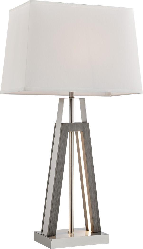 Albatross Point Gray Table Lamp