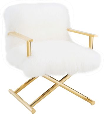 Albee White Accent Chair